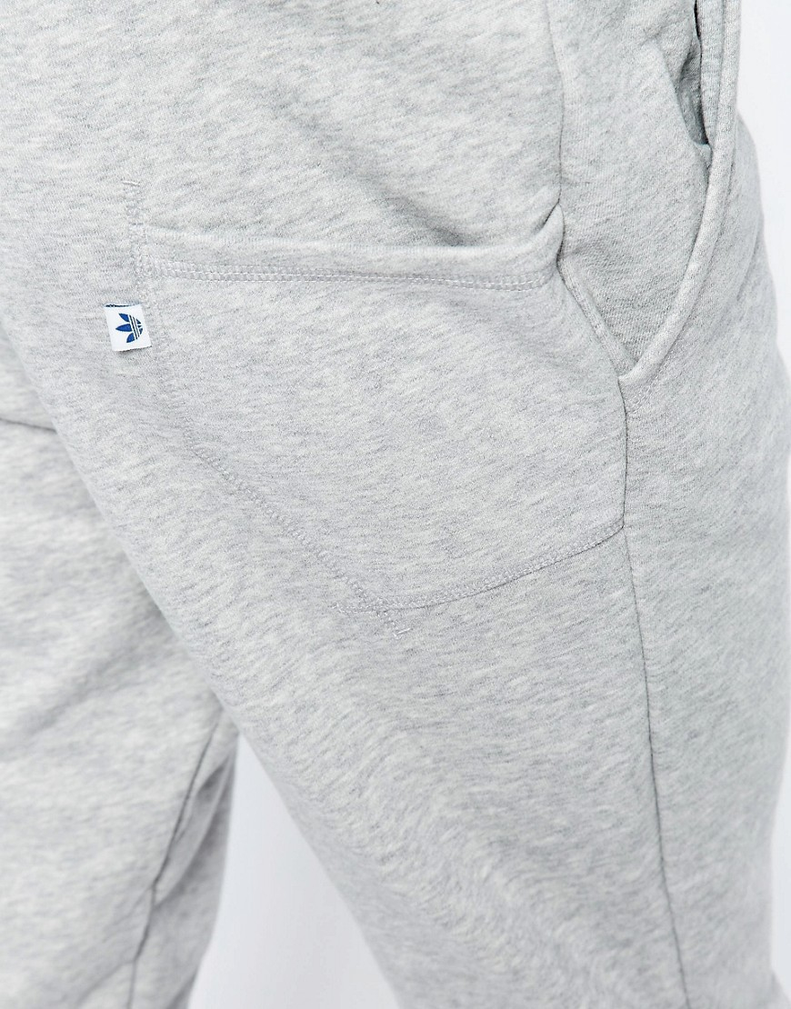24d85e6aae3 adidas Originals Originals Trefoil Series Baggy Sweat Pants With Side Logo  in Gray - Lyst