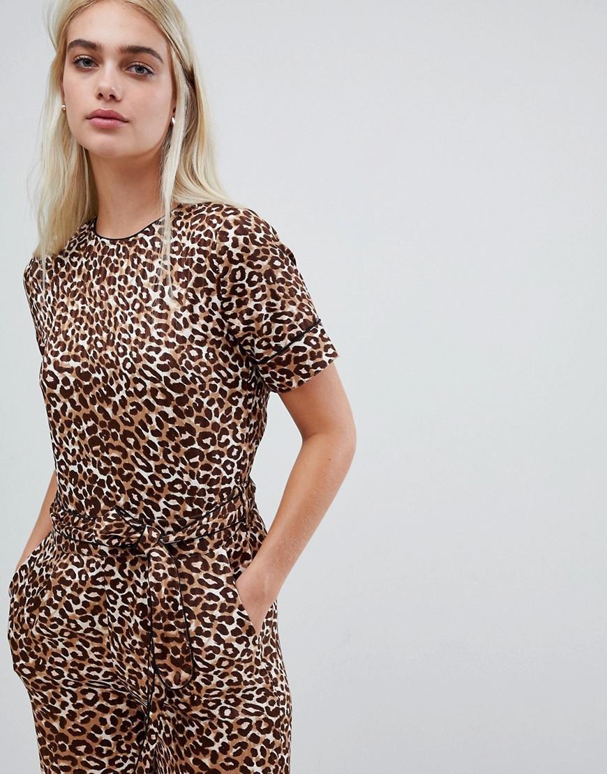 004f70957787 Pieces. Women s Leopard Print Jumpsuit