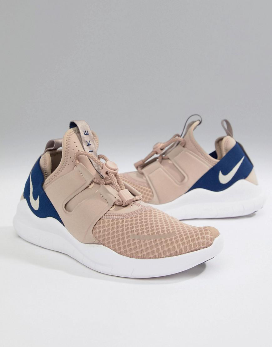 timeless design ab538 b3c46 Nike. Mens Natural Free Run Commuter 2018 Trainers In Beige ...