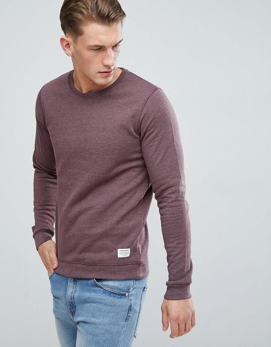 38337839742e6 Lyst - Sweat-shirt chiné Solid pour homme en coloris Rouge