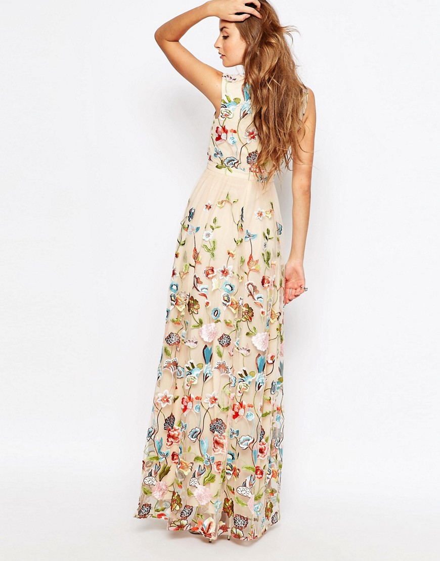 83582f1a4466af True Decadence Allover Embroidered Floral Maxi Dress - Lyst
