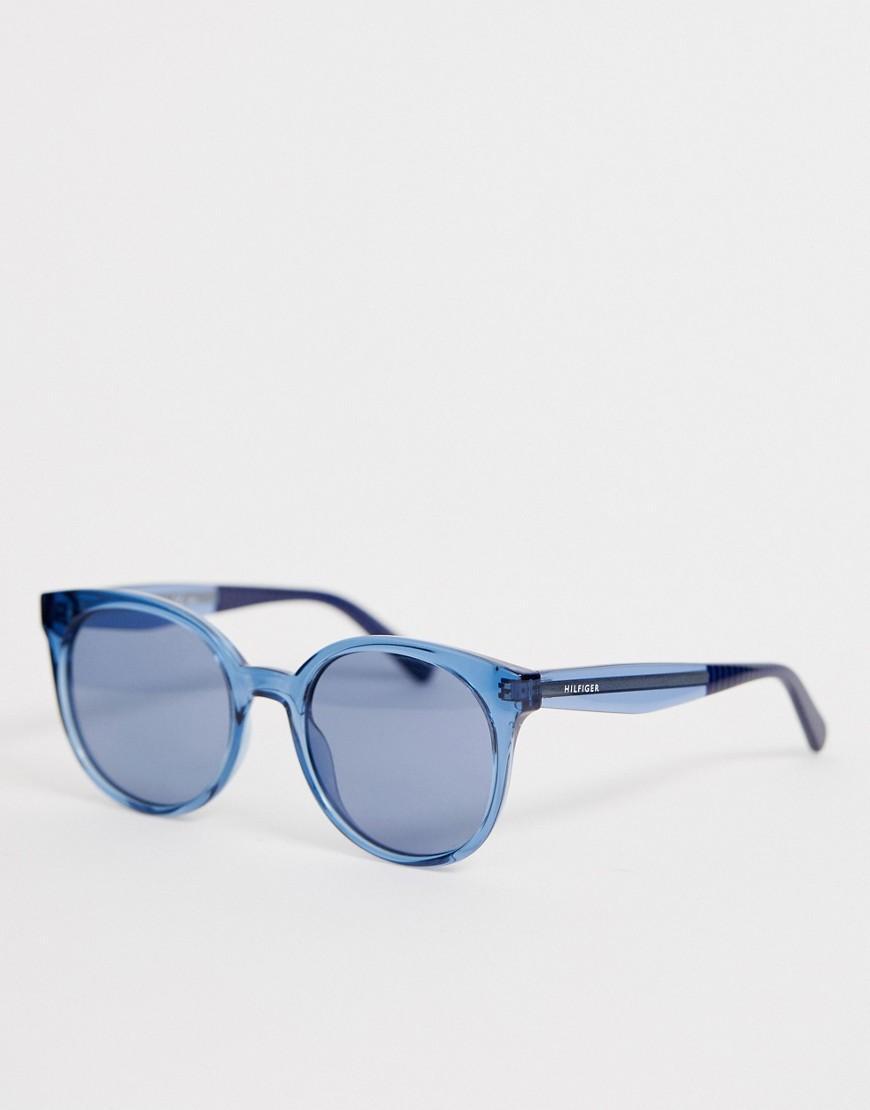 ef85e5dd1cb7c Lyst - Tommy Hilfiger Cat Eye Sunglasses In Blue Tinted Frame in Blue