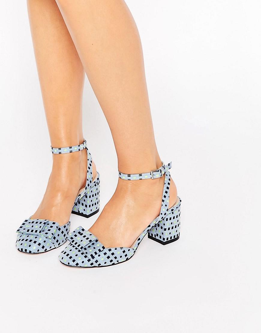 Asos Spree Bow Detail Heels in Blue