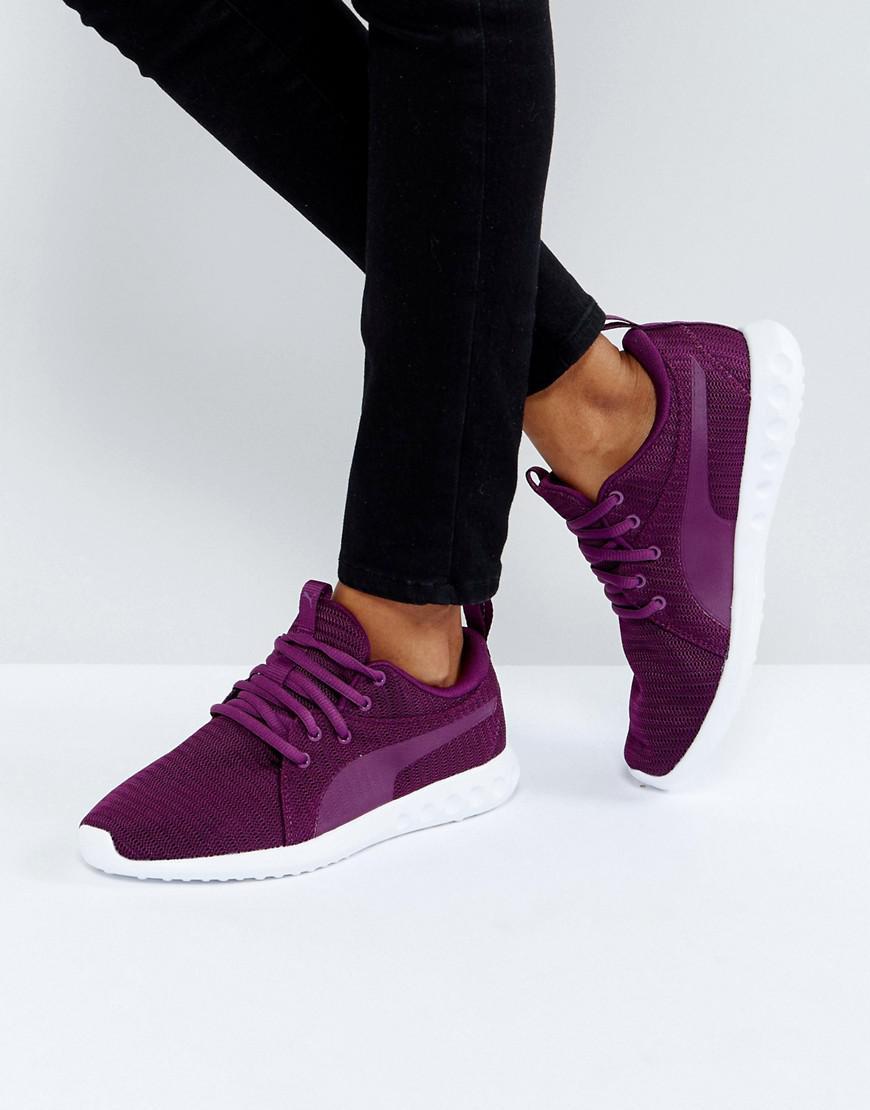 ac3c6a3dd1aee4 PUMA Carson Trainers In Dark Purple in Purple - Lyst