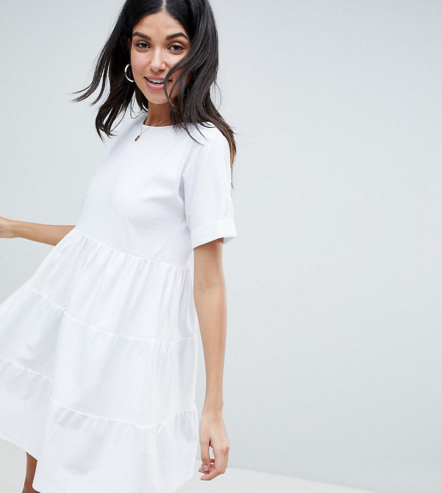ASOS ASOS DESIGN Tall mini smock dress with pockets and button front Discount Popular Clearance For Sale Free Shipping Explore Discount Get Authentic Outlet 2018 New IMXEA
