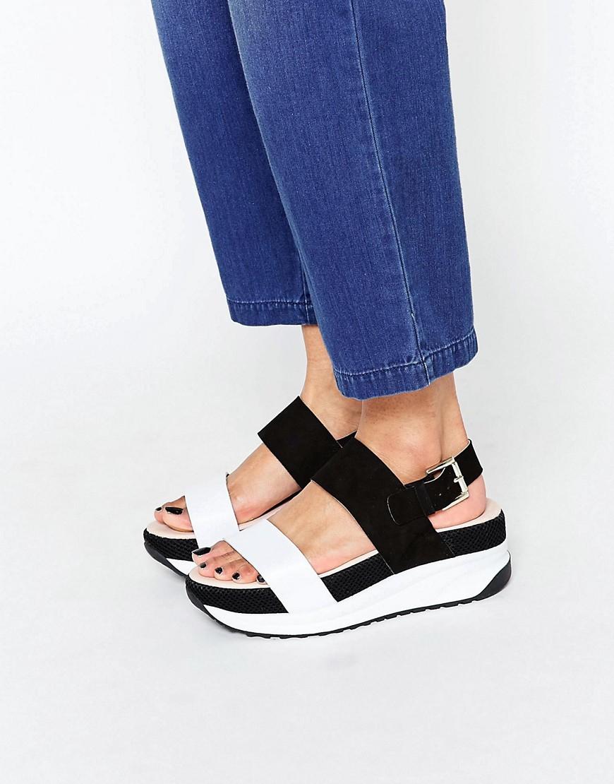 Kurt Geiger Kg Black Suede Chunky Ankle Strap Shoes