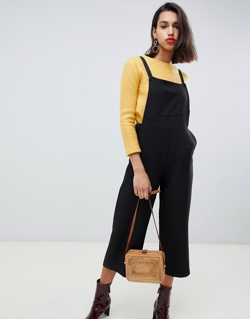 f20d423b943 Side Party Lila Relaxed Overalls in Black - Lyst