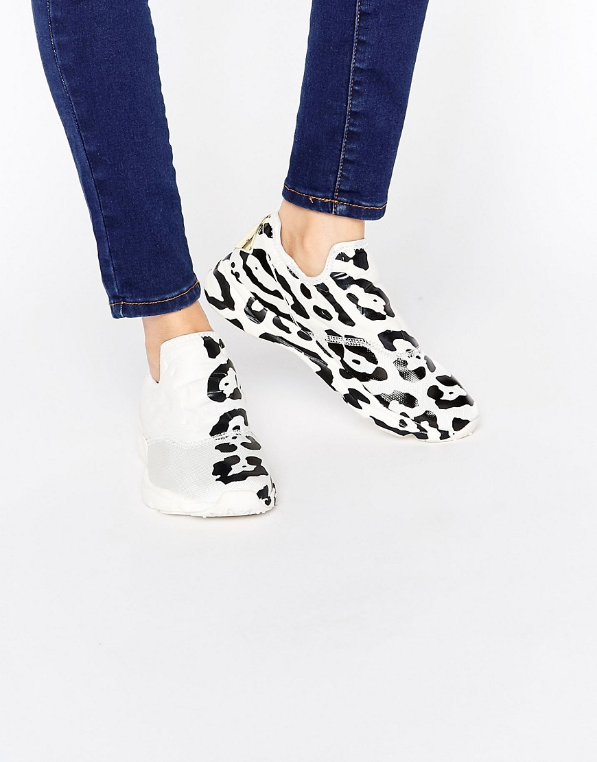 3429472bc7c6 Reebok Furylite Slip On Trainers With Leopard Placement Print in ...