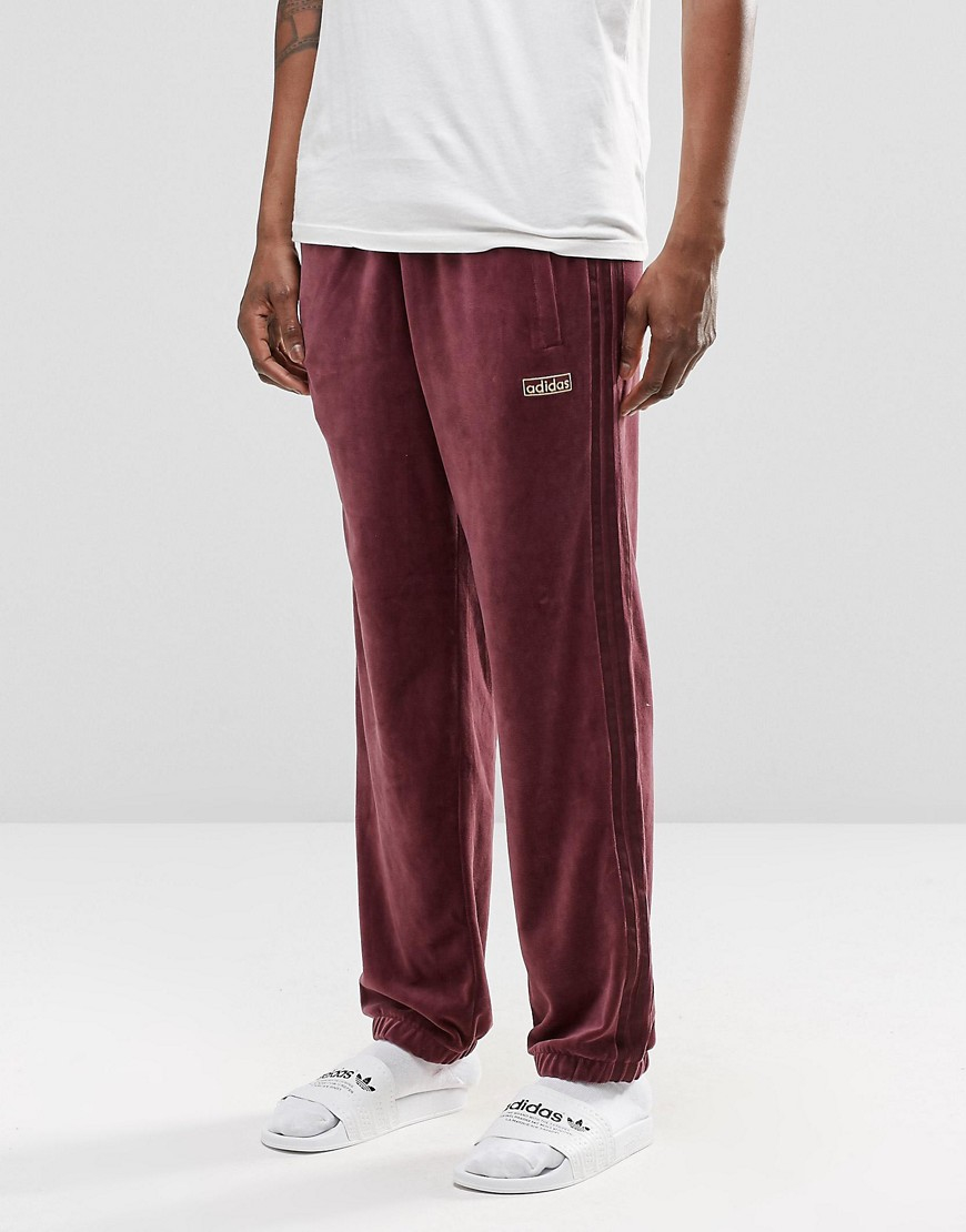 adidas originals archive velour cuffed joggers ay9231 for. Black Bedroom Furniture Sets. Home Design Ideas