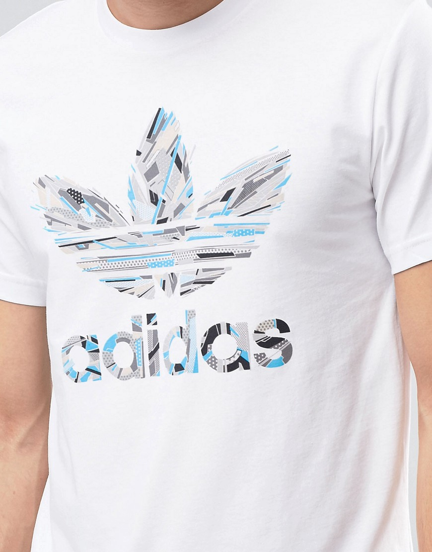 Lyst - Adidas Originals Freeze Trefoil T-shirt Az1062 - White in White for  Men