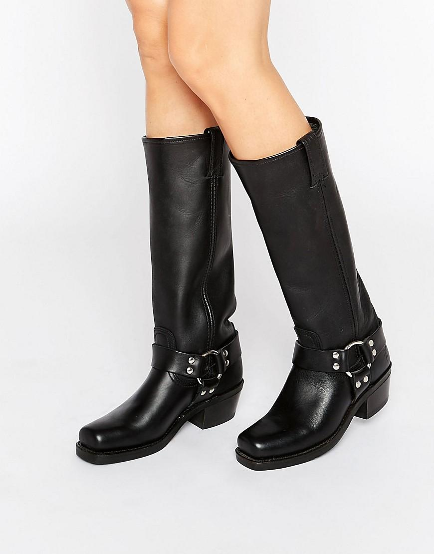 Lyst Frye Harness 15r Leather Knee High Boots In Black