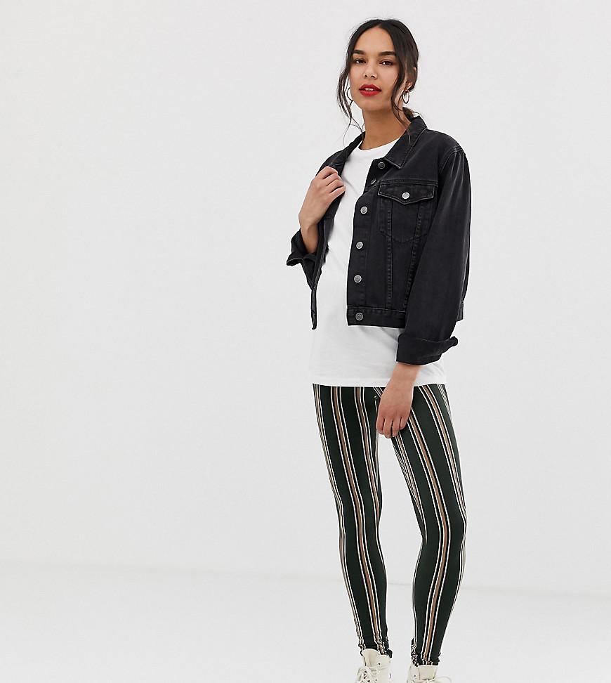 d7f3bfc45c9f5 Lyst - ASOS Asos Design Maternity leggings In Stripe Print