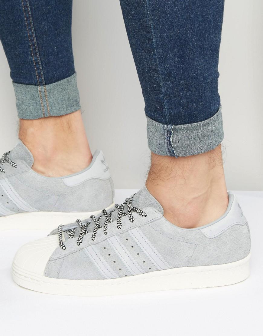 lyst adidas superstar 80 scarpe originali in grigio s75849 in
