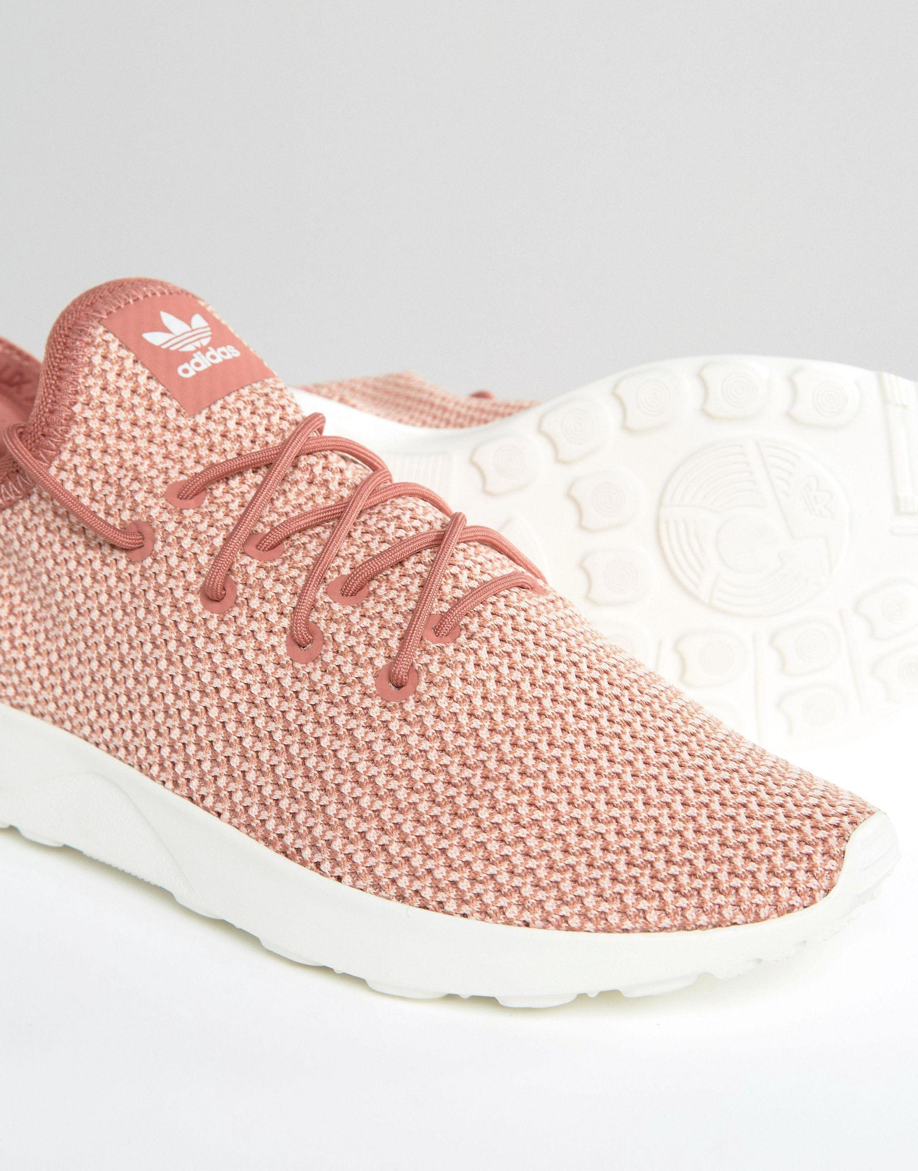 6e5d860f4 ... usa shoes lyst adidas originals originals dusky pink zx flux adv  sneakers in 84778 8ccae