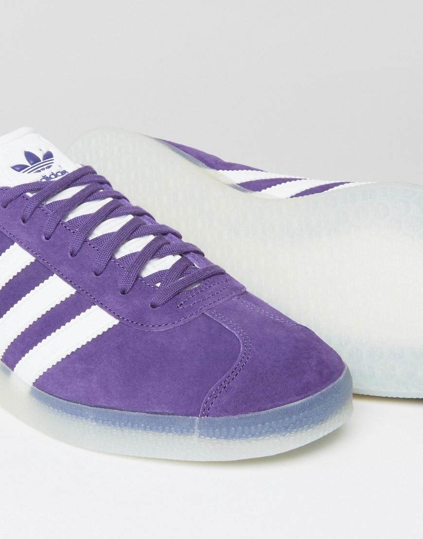 Lyst adidas originali gazzella scarpe viola bb5501 in viola