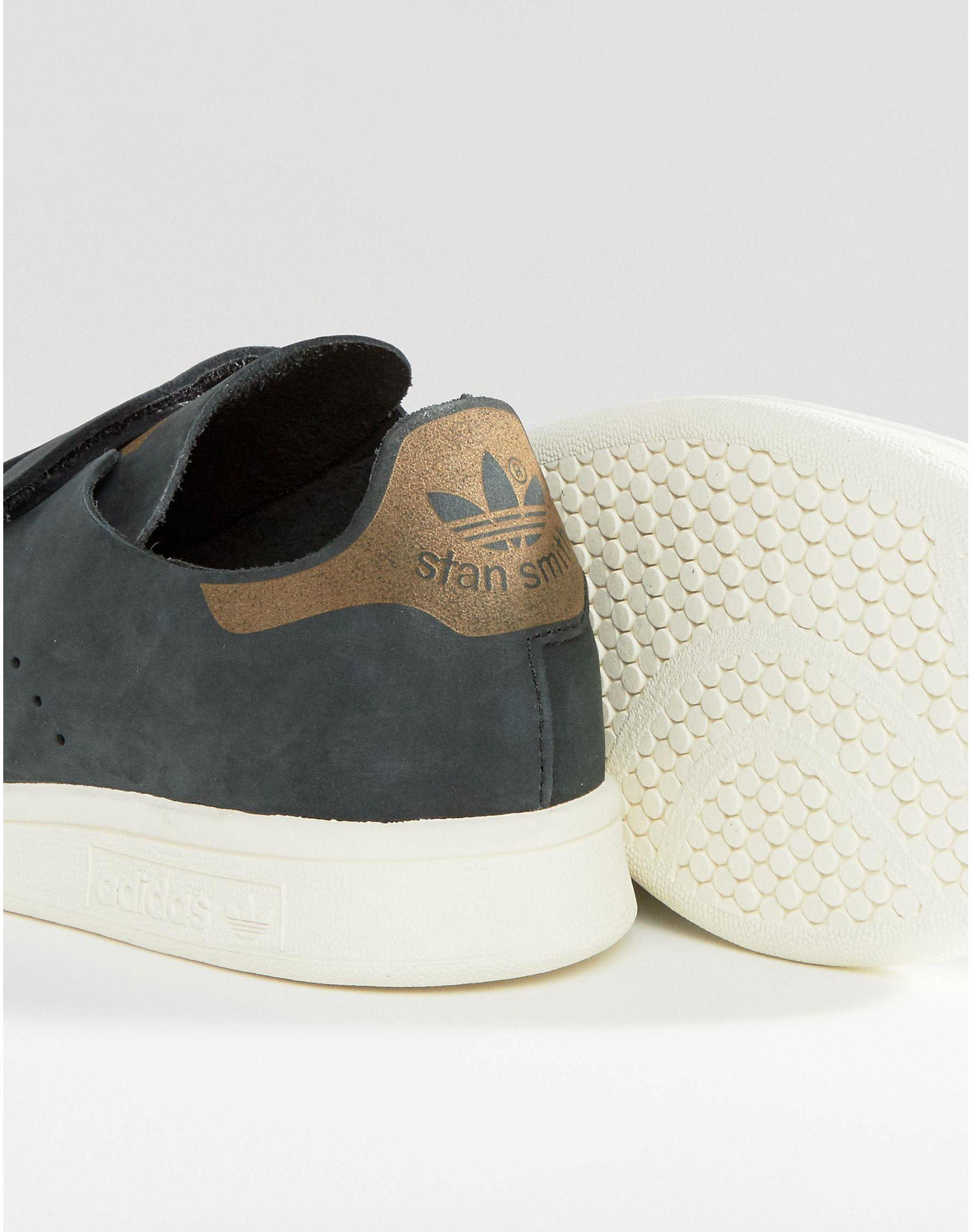 adidas black nubuck leather stan smith