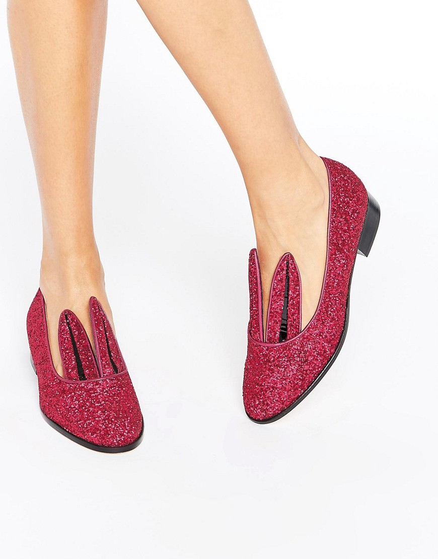 Womens Leather Rabbit Ear Shoes