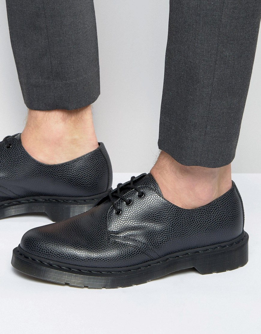 Dr Martens 1461 Pebble 3 Eye Shoes In Black For Men Lyst