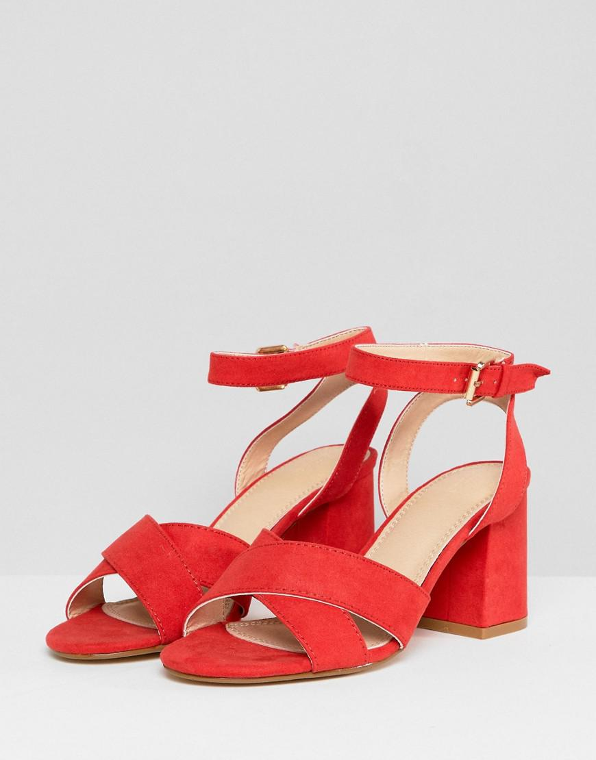 d3626e3be0b1 Pimkie Block Heeled Sandal in Red - Lyst