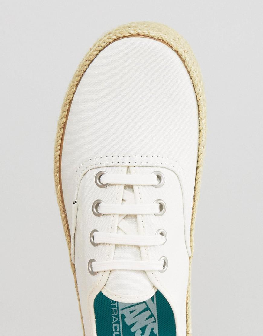 7f6d4d76cd863a Vans Authentic Trainers With Espadrille Sole - Lyst