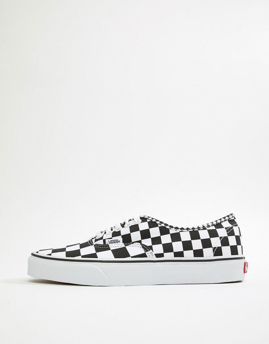 Vans Vans Vans Checkerboard in Black Plimsolls Black In Authentic Va38emq9b r5nwqPrB