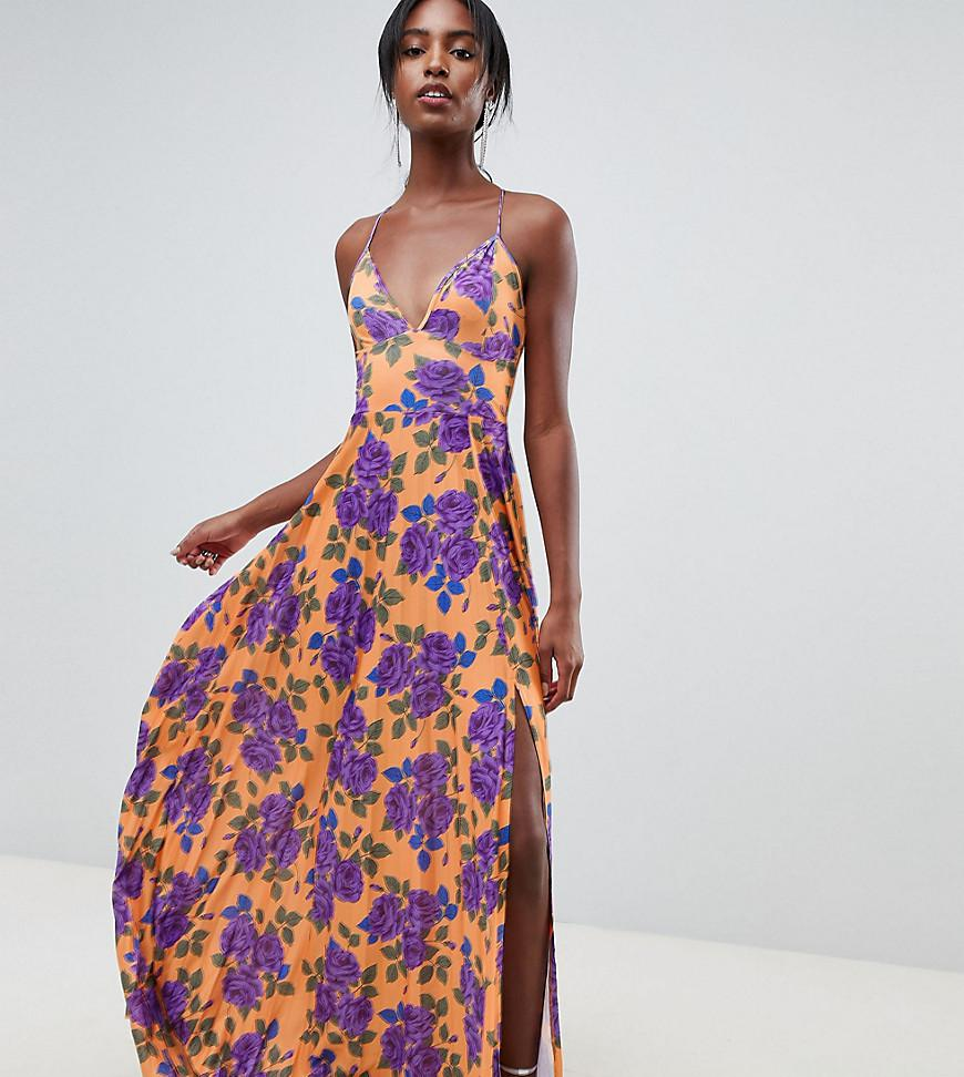 163db6b04554 ASOS. Women s Asos Design Tall Pleated Cami Maxi In Floral Print Dress