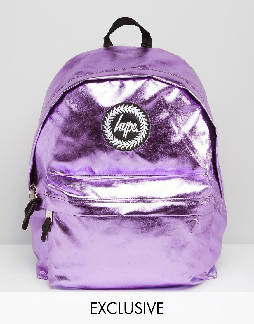 Lyst Hype Exclusive Backpack In Metallic Baby Pink