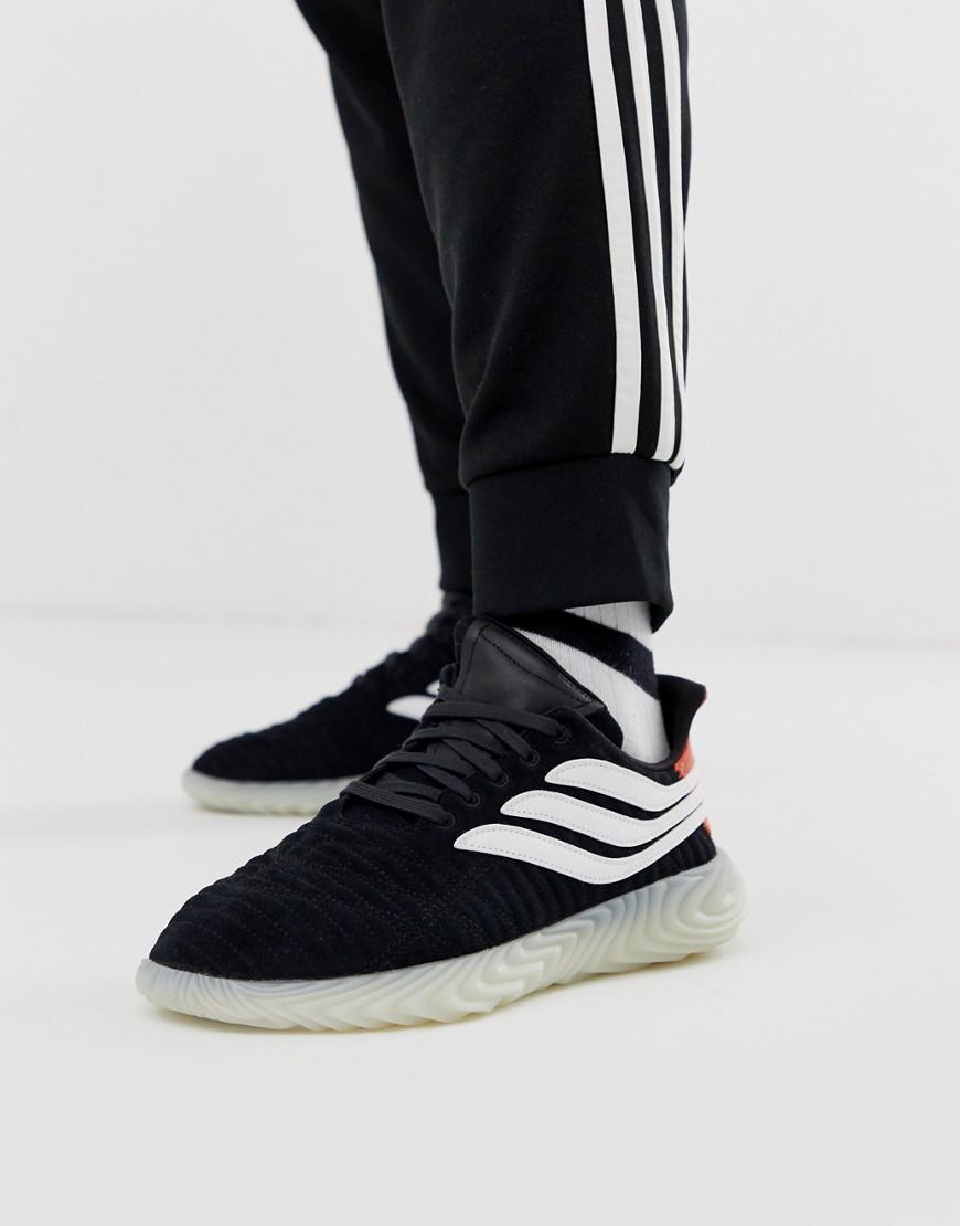 promo code 913e4 82708 adidas Originals Sobakov Trainers Black With Translucent Sole in Black for  Men - Lyst