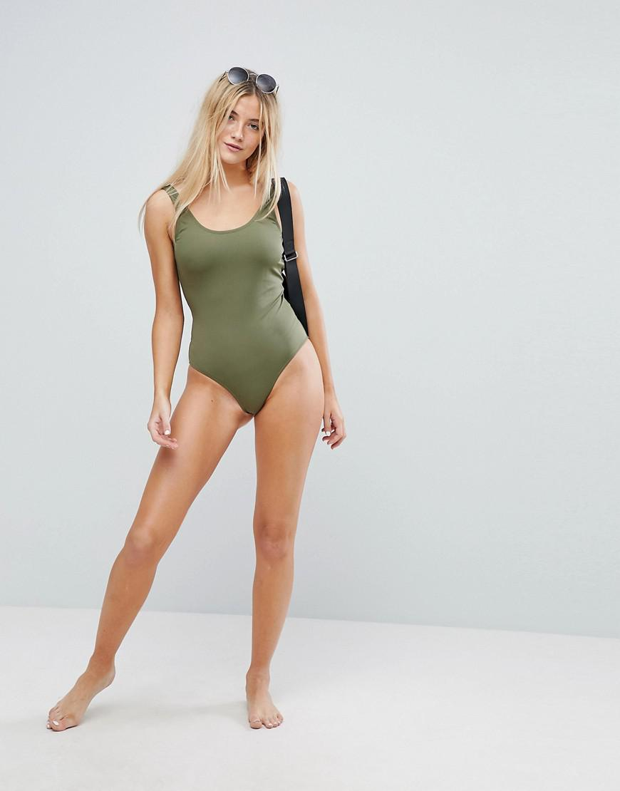 15b96a3f9d Lyst - Weekday Swimsuit in Green