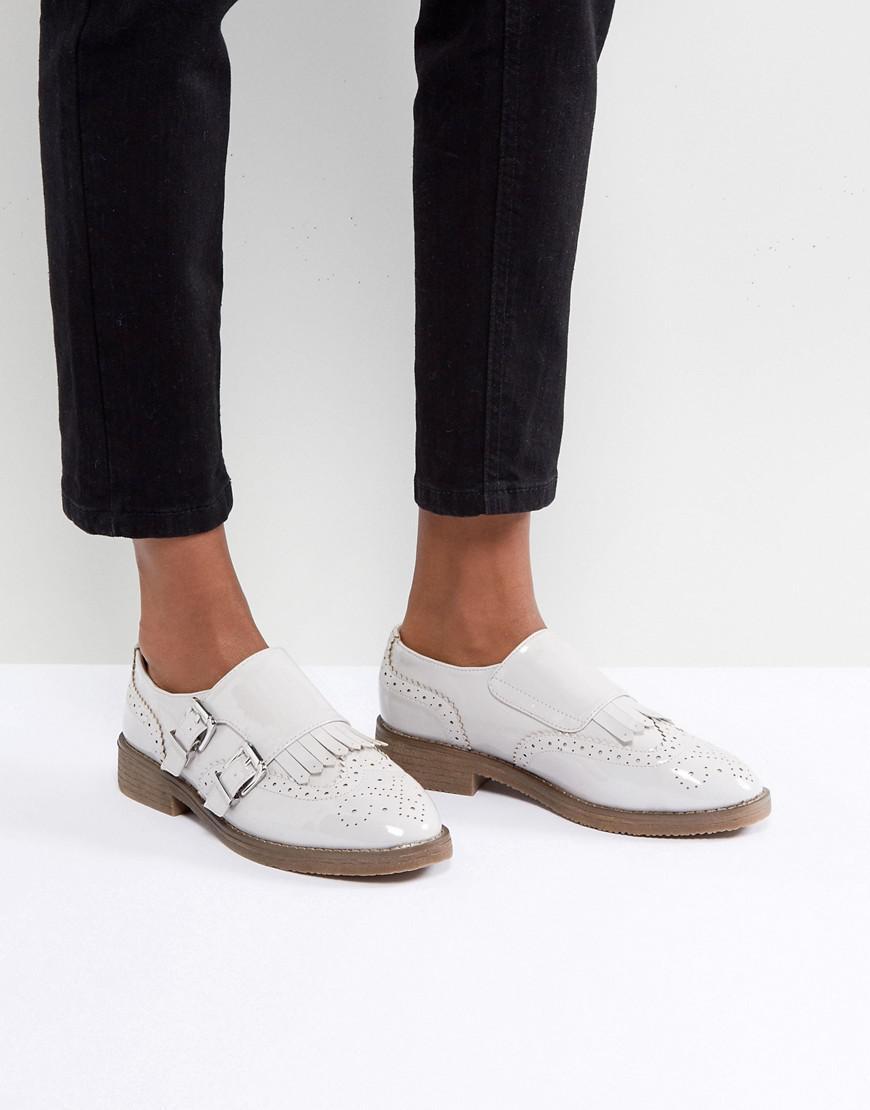 Asos Moine Mastermind Chaussures Plates - Verni Noir vKGbj