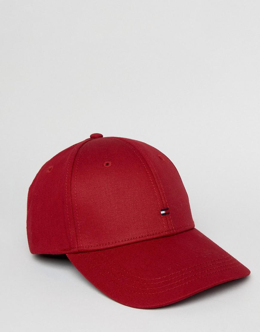 Tommy Hilfiger Classic Baseball Cap In Red in Red for Men - Lyst c072966a655f