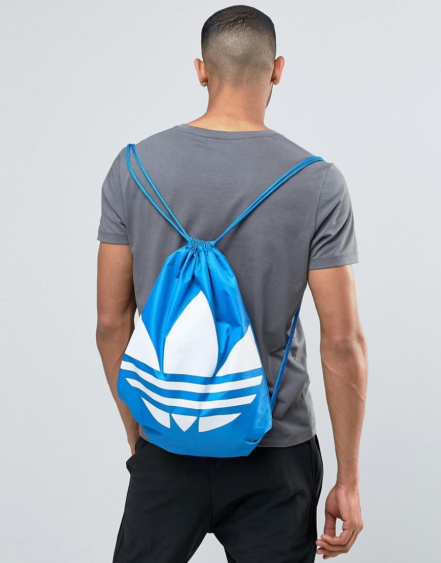 68215e2827 Lyst - adidas Originals Drawstring Backpack In Blue Aj8987 in Blue ...