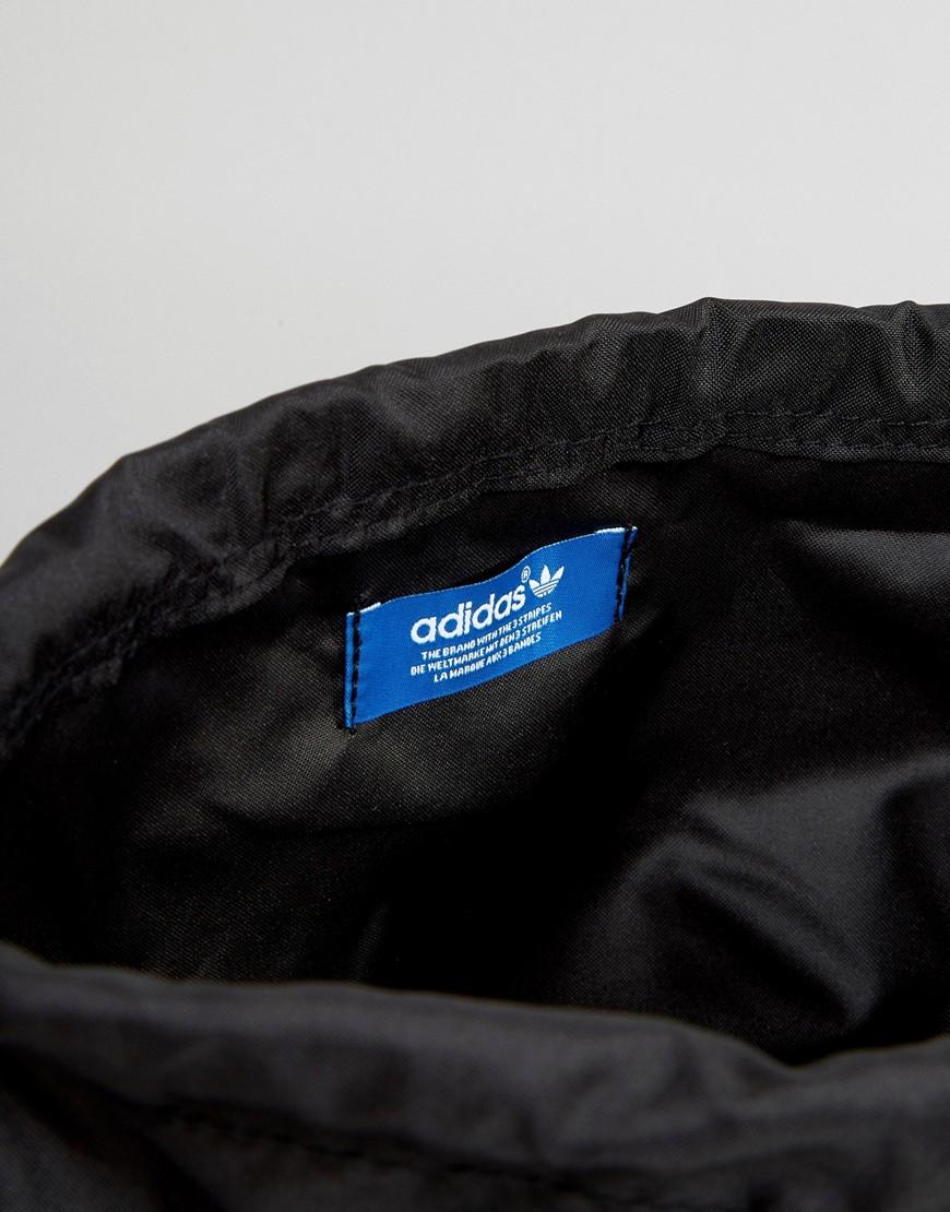 de04f9cb18 Lyst - adidas Originals Drawstring Backpack In Black Aj8986 in Black ...