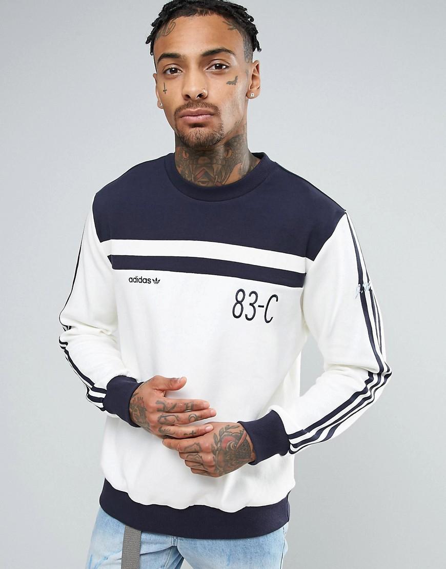 b18242ea8a53 Lyst - adidas Originals 83-c Retro Vintage Sweatshirt In Blue Bk5318 ...