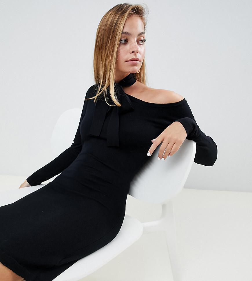 Dress Tie And Bodycon Ink With Neck Lost Jumper Exposed Lyst wBIpxFq4