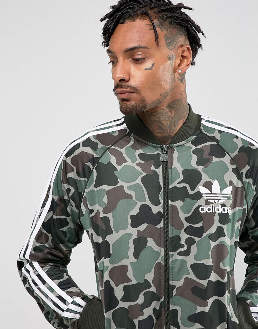 8c5af8ed adidas Originals Superstar Camo Track Jacket In Green Cd9303 in ...