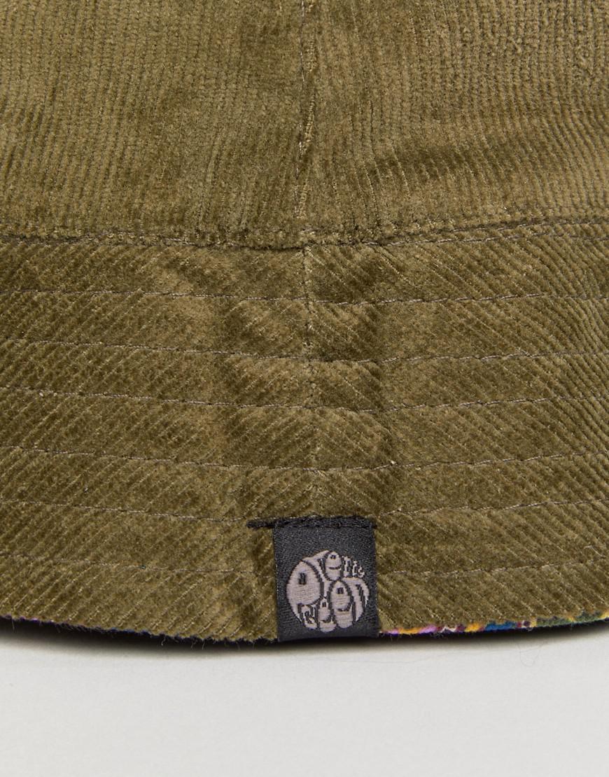 5d6838b19a46d Pretty Green Cord Khaki Reversible Bucket Hat in Green for Men - Lyst