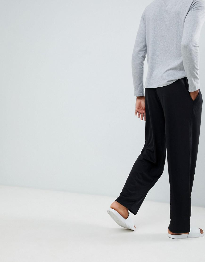 b072ee24ffa48 French Connection Tall Cotton Lounge Pants in Black for Men - Lyst