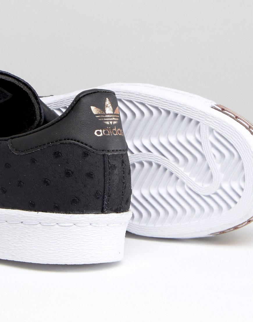 lyst adidas superstar polka dot metallici incapsulati scarpe originali