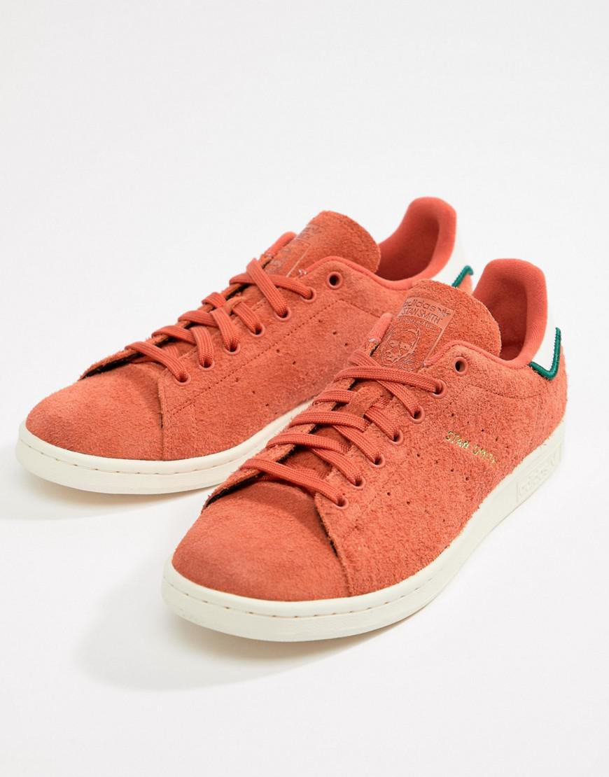 adidas Originals Stan Smith Trainers In Orange CQ3091