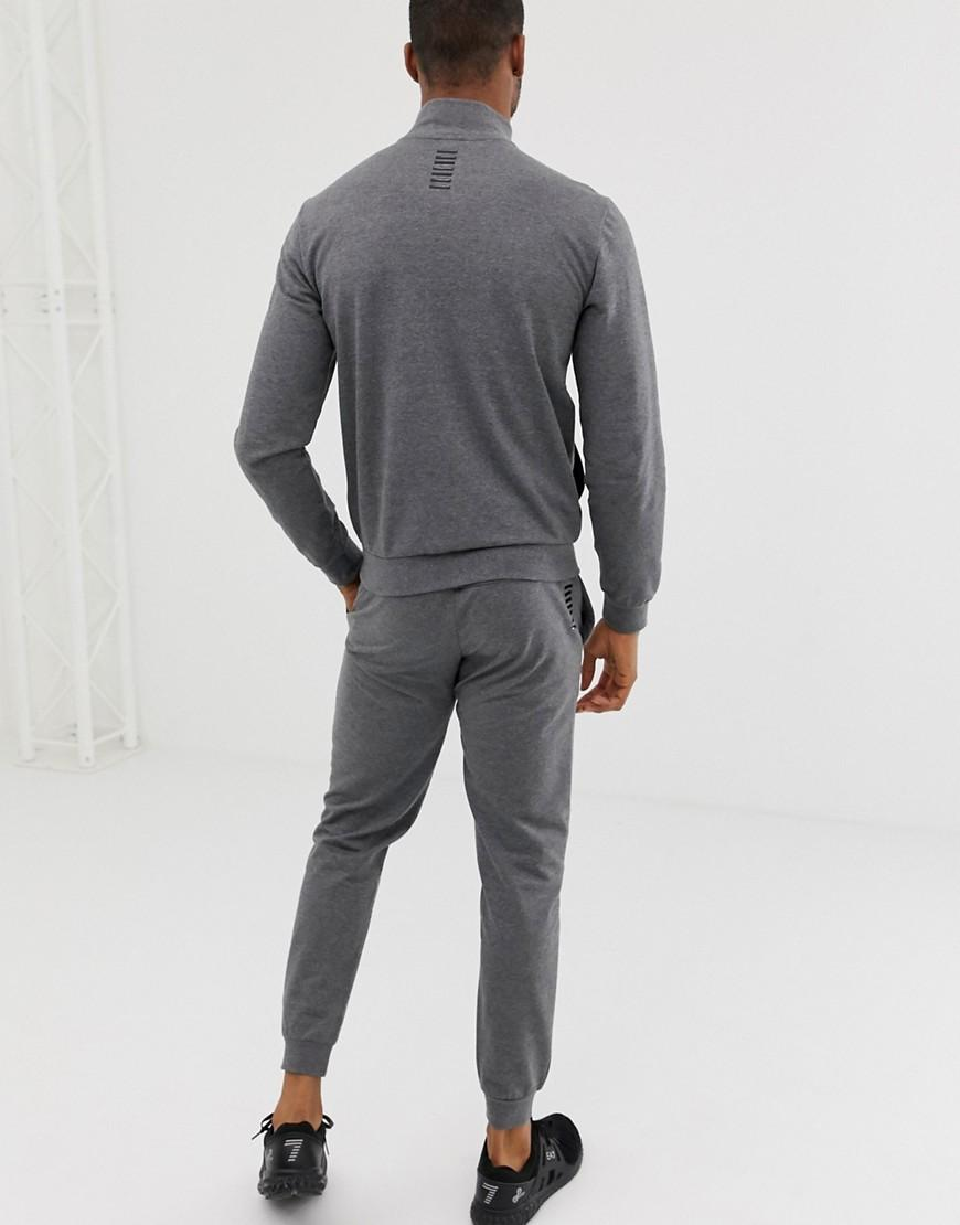 daebba0f6e3 Lyst - Ea7 French Terry Logo Tracksuit In Gray in Gray for Men