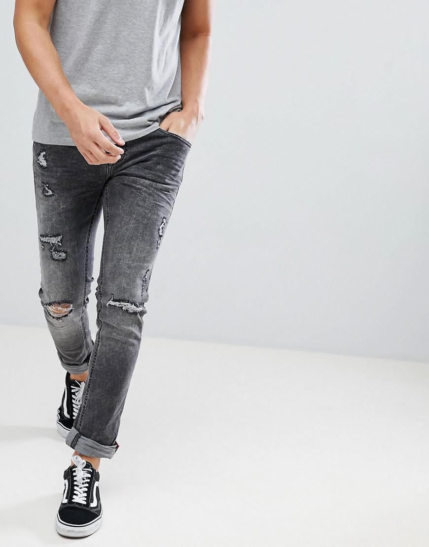 85da227c ... Blend - Gray Cirrus Distressed Skinny Jeans In Grey for Men - Lyst.  Visit ASOS. Tap to visit site