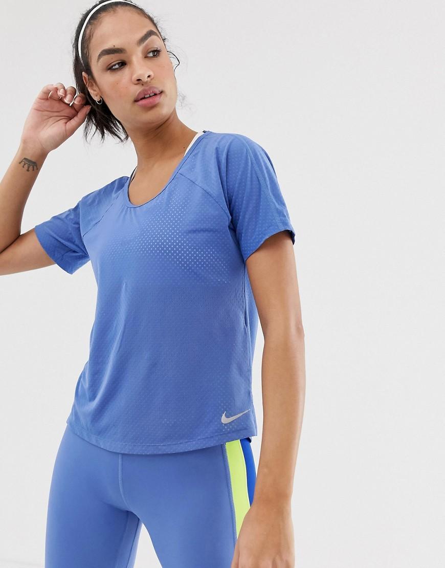 6a8fe011f697a Nike Cutout Back T-shirt In Blue in Blue - Lyst
