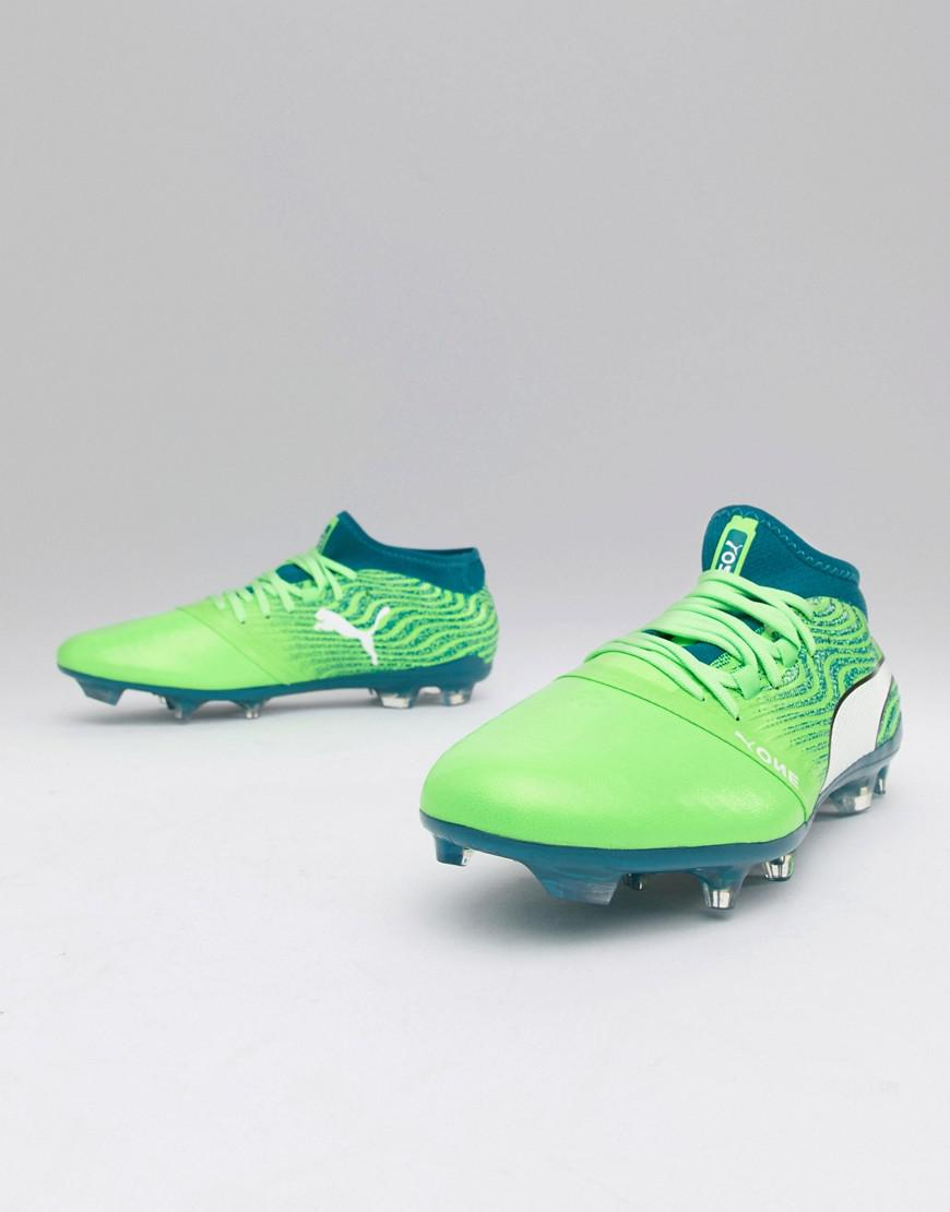 1d9f7851a06 Puma One 18.2 Fg Football Boots in Green for Men - Lyst