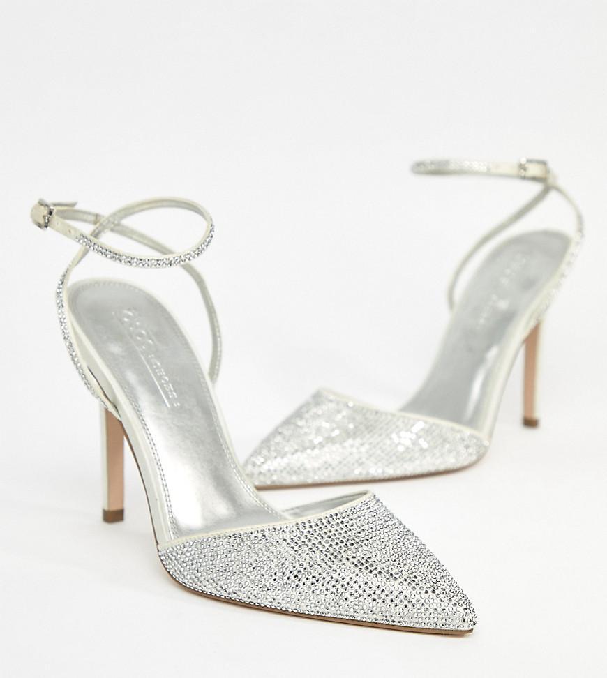 PHARAOH Wide Fit Bridal Embellished High Heels - Ivory Asos IXKnYJv0