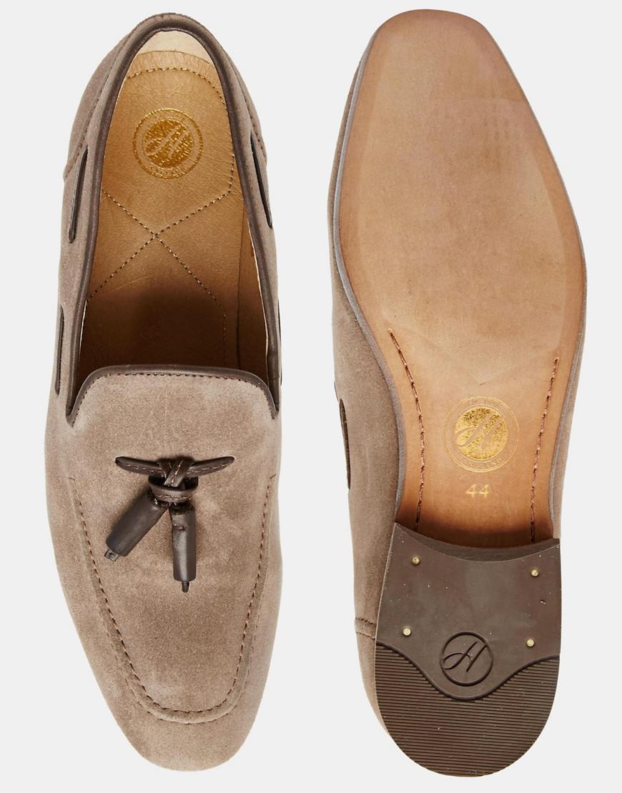 933e0faad8b Lyst - H by Hudson Pierre Tassel Loafers in Gray
