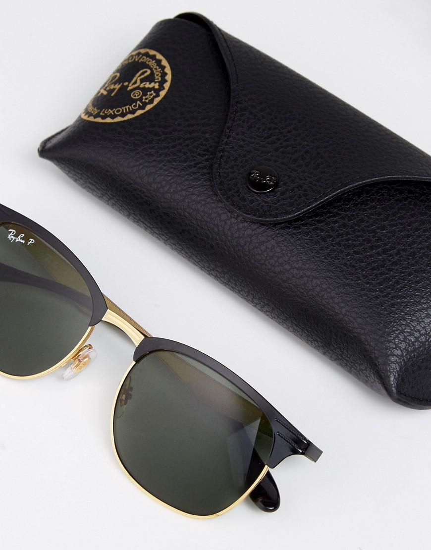e3d348c2c3 Ray-Ban Clubmaster Sunglasses With Polarised Lens 0rb3538 in Black ...