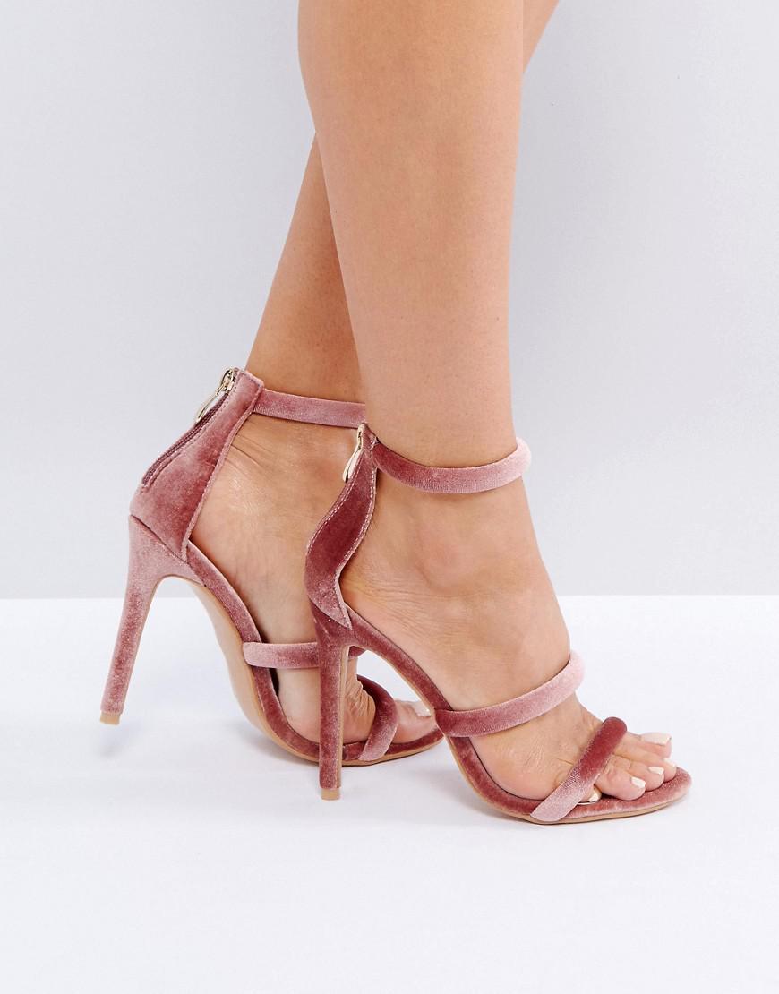 eddeed5cd0ee Lyst - Public Desire Dusty Pink Heeled Sandals in Pink