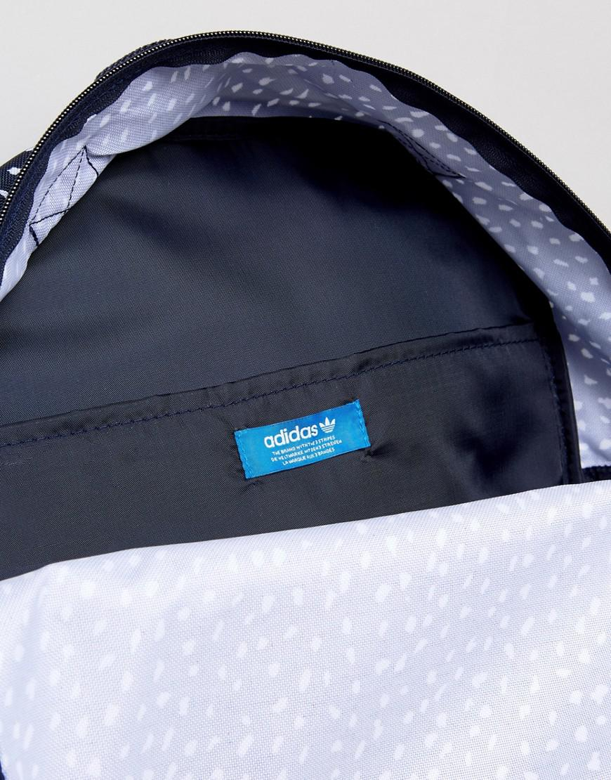 Lyst - adidas Originals Graphic Backpack In Blue Ab3889 in Blue for Men f9496e4082f72