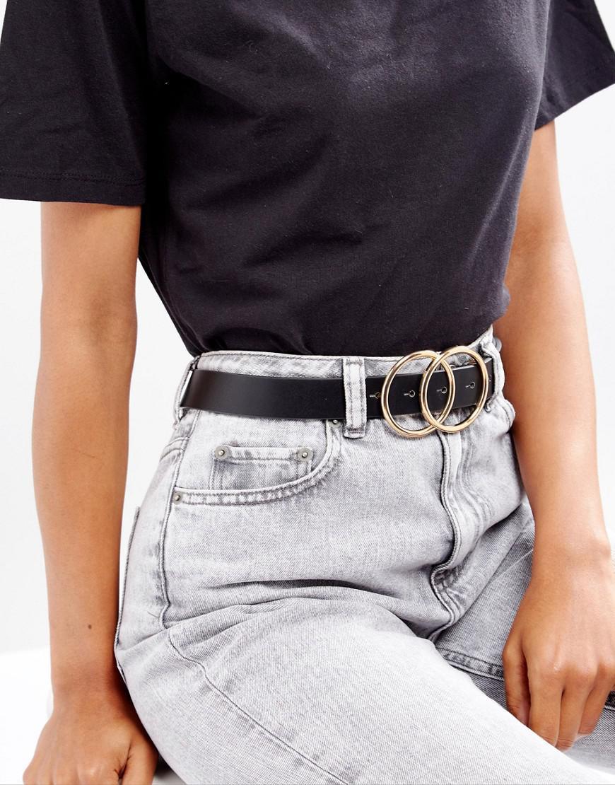 ASOS. Ceinture taille et hanches pour jean avec double cercle femme de  coloris noir 647847e7b17